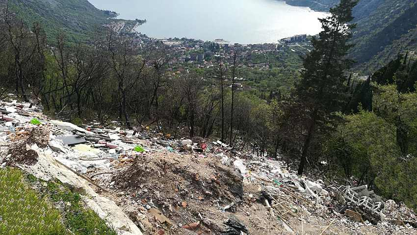 crna gora, deponija