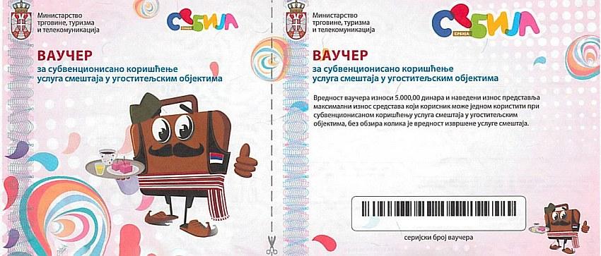 vaučer za odmor u Srbiji