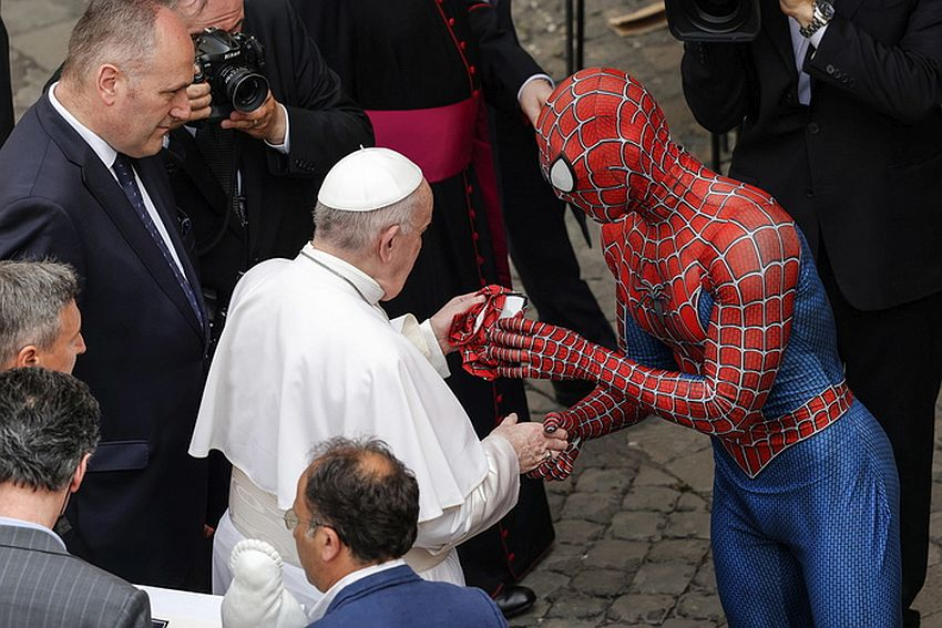 Pope Francis during his weekly General Audience