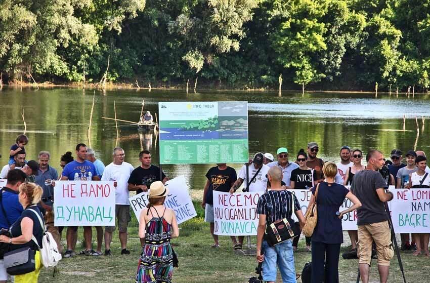 Dunavac-protest